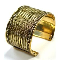 Brass Fine Weave Cuff Bracelet Gold Tone . $21.95. No child or slave labor involved. Sustainable employment that empowers women. Hand crafted. Made of locally sourced materials. Fair trade, from India