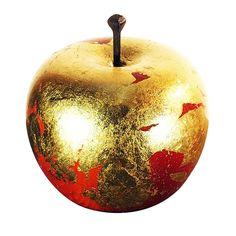 Apple Art, Red Apple, Apple Painting, Artist Logo, Gold Art, Solid Pine, Logo Inspiration, Gold Leaf, Red Water