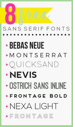 8 Free Sans Serif Fonts