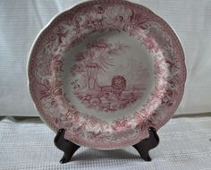 """SPODE TRANSFERWARE PLATE """"Aesops Fables"""", ARCHIVE COLLECTION"""