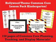 This lesson pack contains everything you will need to teach, track, and display the Common Core State Standards for Kindergarten! With 150 pages!  $5.99