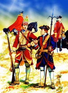 Royal Artillery gunner with Cobham's Dragoons, Jacobite Rebellion