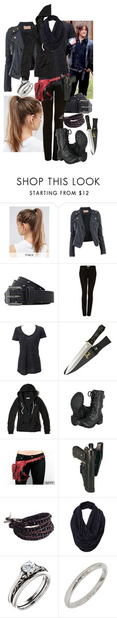 """The Walking Dead Daryl's Wife 18"" by werewolf-gurl ❤ liked on Polyvore featuring NIKE, Armani Exchange, Topshop, Simplex Apparel, Hollister Co., Chan Luu and Tiffany & Co."