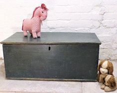 Items similar to Large Painted Pine Blanket Box with Upholstered Cushioned Seat ~ Padded Bench / Seat / Chest / Trunk ~ Made to order for you on Etsy Padded Bench, Bench Seat, Bedroom Chest, Blanket Box, Trunks And Chests, Storage Chest, Pine, Handmade Gifts, Etsy