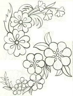 Hand Embroidery Patterns, Applique Patterns, Ribbon Embroidery, Craft Patterns, Beading Patterns, Flower Patterns, Flower Designs, Embroidery Stitches, Machine Embroidery