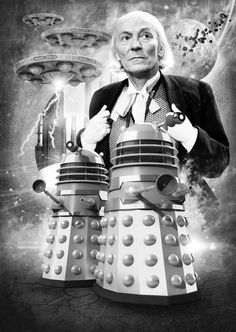 The First Doctor and The Daleks.