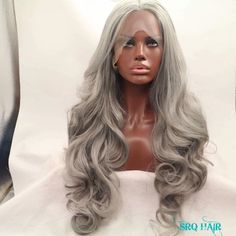 Silver Lace Front Wig 24