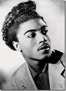Little Richard, pianist, singer and songwriter. He is considered key in taking music from R+B to Rock 'N Roll in the 1950s. Many of his songs include playful lyrics underlined with sexually suggestive connotations. He inspired the development of soul and funk music, and laid the foundations for Rock & Roll. His charismatic persona, flamboyant showmanship, and distinctive vocals, including shouts, moans, and wails, were unprecedented in popular music at the time.
