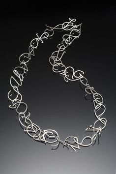 Necklace | Trudee Hill. 'Vivaldi'.  Sterling silver