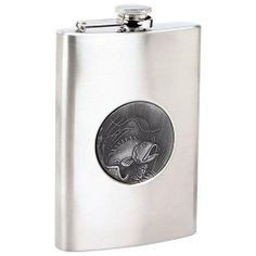 "New Maxam 8oz Stainless Steel Flask With Embossed Fishing Emblem Zinc Alloy Fishing Emblem . $6.99. Polished Finish On Top And Bottom. Measures 3-5/8"" X 5-3/4"" X 1"". Zinc Alloy Fishing Emblem. Features polished finish on top and bottom, brushed finish on sides, and zinc alloy fishing emblem. Measures 3-5/8"" x 5-3/4"" x 1"". Boxed. Save 63%!"