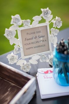 Wedding guests may leave a recipe for a successful marriage for the newlyweds.  Photo: Todd M Photography