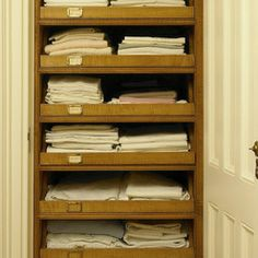 pull out drawers in the linen closet great idea no more messing up rh pinterest com cabinet pull out drawers ikea cabinet pull out shelves