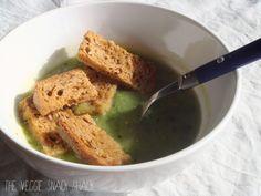 The Veggie Snack Shack: Courgette soep met croutons