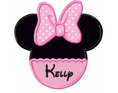 Minnie Mouse  Ears  Applique Machine Embroidery Design NO. 66