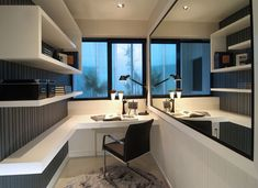 Amazing Clever And Creative Small Study Room Ideas With Contemporary Wall Shelving Design