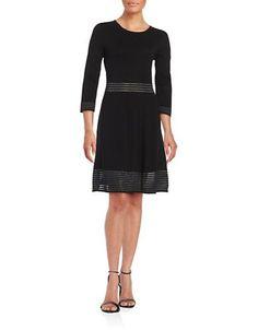 Jessica Simpson Knit A-Line Dress Women's Black Large