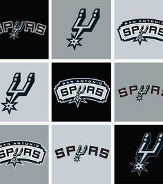 "San Antonio Spurs Fleece Fabric 58"" - Block"
