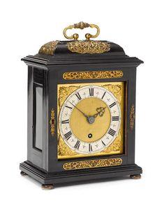 Sold $216,383 -  A FINE LATE 17TH CENTURY EBONY VENEERED QUARTER REPEATING BRACKET TIMEPIECE  Thomas Tompion, London, number 53