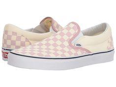 b472c71441 Vans Classic Slip-Ontm ((Checkerboard) Zephyr Pink True White) Skate