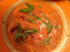 Rezept: Kürbissuppe mit roten Linsen