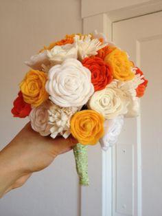 felt flower bouquet | Felt flowers bouquet | Wedding bouquet