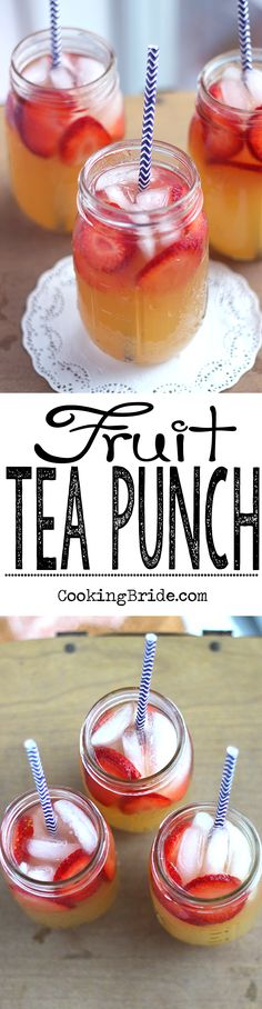 Liven up your sweet tea recipe with this fruity version of fruit tea punch -- fruit juices and fizzy ginger ale give this popular beverage a sweet kick.