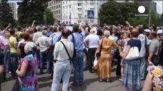 Ucrania: Protesta contra la guerra en Donetsk