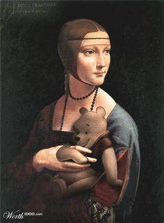 """Parody of """"Lady with an Ermine"""" by Leonardo Da Vinci"""