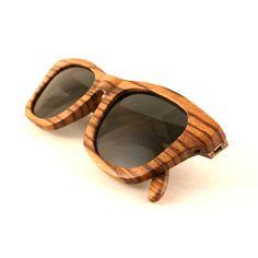 Flourish black polarized zebra wood sunglasses from Thrive Shades.