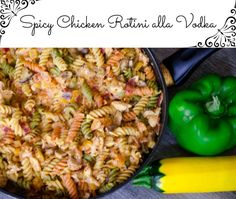 Spicy Chicken Rotini alla Vodka