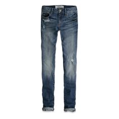 I'm definitely too old for Abercrombie but they make the best distressed jeans