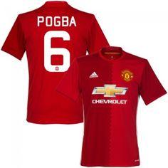 The Red Devils Paul Pogba 6 Red Home Soccer Jersey Football Shirt Trikot  Maglia Playera De Futbol Camiseta De Futbol 86069593a