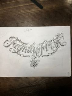 - Family- Family About Family Pin Yo - Chest Tattoo Lettering, Tattoo Lettering Design, Chicano Lettering, Design Tattoo, Tattoo Design Drawings, Tattoo Script, Graffiti Lettering, Tattoo Fonts, Family First Tattoo