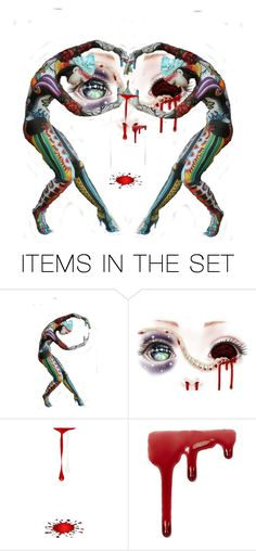 """bloody hole"" by didesi ❤ liked on Polyvore featuring art"