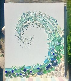 Sea Glass Mosaic, Sea Glass Beach, Sea Glass Art, Sea Glass Jewelry, Mosaic Art, Sea Glass Decor, Sea Glass Crafts, Sea Crafts, Rock Crafts