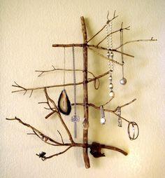 Quietland - tree stick necklace storage