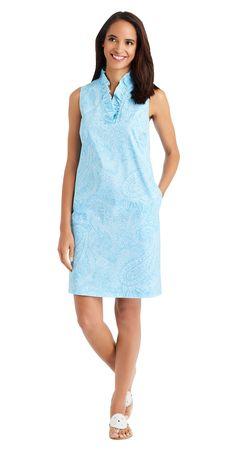 J.McLaughlin - Durham Poplin Dress in Market Paisley