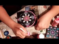 How To Paint Dot Mandalas SIMPLE TOOLS - YouTube