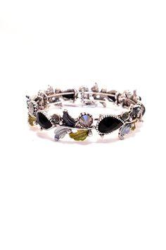 """Oxidized silver and black bracelet.    Measures: 0.5"""" W x 9"""" round   Silver Black Bracelet by The Chic Boutique. Accessories - Jewelry - Bracelets Wisconsin"""