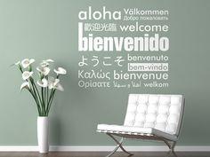 colección Vinilos tipográficos  BIENVENIDO - WELCOME  ref. 0419