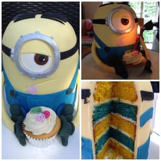 This incredible sponge cake was inspired by the minions from Despicable Me. Bronya made it for her niece's birthday as a surprise!