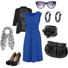 """Blue for work"" by jossiebristow on Polyvore"
