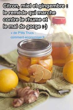 Utilisez ce remède maison à chaque fois que vous commencez à sentir un petit chatouillement dans votre gorge. Découvrez l'astuce ici : http://www.comment-economiser.fr/citron-miel-gingembre-remede-efficace-contre-rhume-mal-gorge.html?utm_content=buffer43e3e&utm_medium=social&utm_source=pinterest.com&utm_campaign=buffer