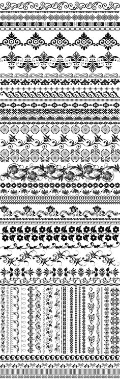 Free brushes (ABR): Marias lace border  by ~ElizaVladi