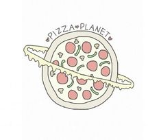 Pizza planet♥ | via Tumblr pinterest~☯♡crazy♡☯~