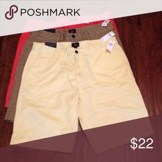 Shorts⚡️sale⚡️ NEW!! Men's shorts/ flat front with two front pockets and two back pockets/$17 a pair GAP Shorts Flat Front
