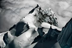 The northwest ridge of Nevado Chopicalqui, Cordillera Blanca, Peru, Jan 2011 ~ #mountain #photography --- Even more Beautiful, because its dangerous!