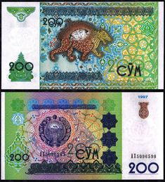 Uzbekistan 200 Sum Foreign Paper Money Banknote World Currency | eBay