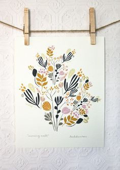 morning walk print // Leah Duncan