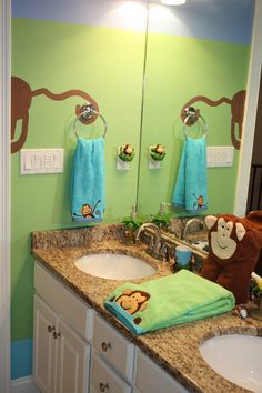 Boys Monkey Bathroom My Projects Pinterest Kid Bathrooms And Bath